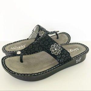 Alegria Carina Night Poppy Black Ortho Sandals 41